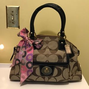 COACH Hand & shoulder bag with scarf!